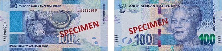 100 южноафриканских рандов нового образца