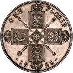 1 флорин Британской империи 1921 года