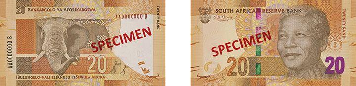 20 южноафриканских рандов нового образца