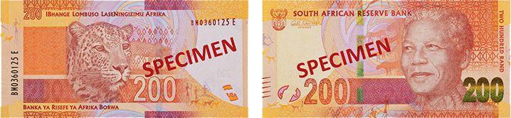 200 южноафриканских рандов нового образца