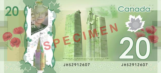 20 канадских долларов (реверс)