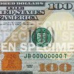 100 долларов США нового образца (фрагмент)