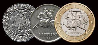 Монеты Литвы разных времен
