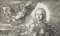 Коронованная ангелом Дева Мария. Фрагмент.