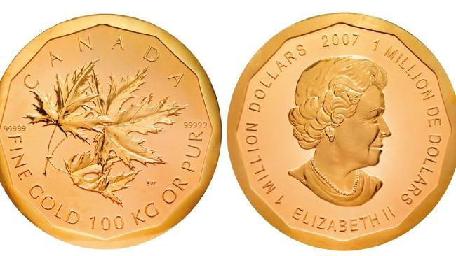 1 мільйон доларів. Королівський канадський монетний двір.